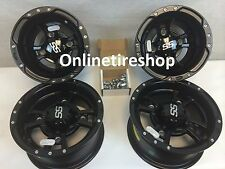 SET OF 4 ITP SS112 Rims Yamaha Raptor 250 350 660 700 Four wheels Matte Black