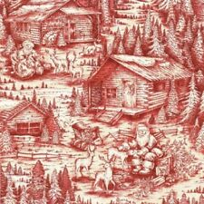 Fat Quarter Santa Christmas in the Woods Cotton Quilting Fabric - Fabri-Quilt