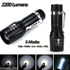 Ultrafire 2200 Lumens CREE XM-L T6 LED Flashlight Super Bright Zoom Taschenlampe