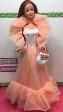 OOAK Restyled Mattel Redhead Barbie Doll Wearing 1984 Peaches N Cream Outfit