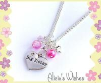 Personalised Necklace Children's Jewellery Big Sister Little Sister Daughter
