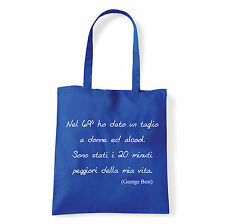 Art T-shirt, Borsa  George Best, Blu, Shopper, Mare