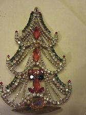 Weinachtsschmuck Christbaumschmuck alt Weihnachtsbaum Glassteine bunt
