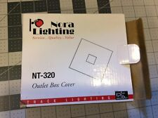 Nora Track Light NT-320 - White - Outlet Box Cover - Single or Dual Circuit