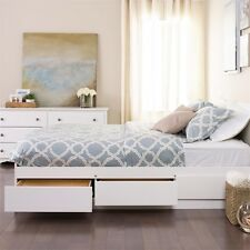 Prepac White Queen Mate's Platform Storage Bed with 6 Drawers