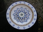 Tabletops Hampton Blue Diamonds Red Dots Graphic Design White Dinner Plate