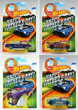 Hot Wheels 2015 FATHER'S DAY US,KMART 4 CARS SET CUSTOM CAMARO,'63 MUSTANG,C6