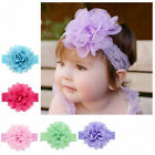Kid Girl Baby Headband Toddler Lace Bow Flower Hair Band Accessories Headwear J