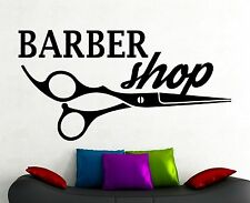 Barber Shop Logo Wall Sticker Window Vinyl Decal Hair Haircut Salon Decor 7pzz