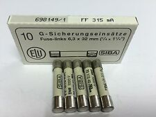 FLUKE 1507 Insulation Tester Replacement Fuse 315mA (x5) JPSF082 SIBA 7017240