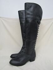 Vince Camuto Bilco Black Leather Knee High Boots Size 8.5B