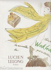 PUBLICITE de presse parfum  Lucien Lelong G.Bol 1950  French vintage ad