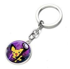 Anime Pokemon Pikachu Poke Ball Keychain Keyring Pendant Chain Bag Chain