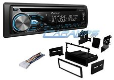 PIONEER CAR STEREO RADIO W/ BLUETOOTH & USB/AUX INP W/ INSTALL DASH KIT & WIRING