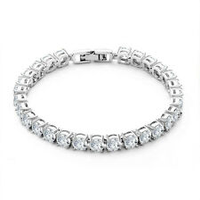 5ct. Round Cut Diamond Tennis Bracelet In 18k White Gold Toned 6.5""