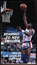 1985-86 LOS ANGELES CLIPPERS BUDWEISER BEER BASKETBALL POCKET SCHEDULE FREE SHIP