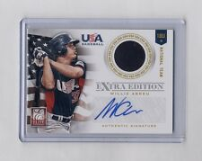 2012 Elite USA Baseball 18U National Team Jersey Auto Kevin Davis RC #40/249
