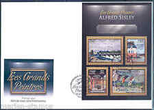 CENTRAL AFRICA 2012 ALFRED SISLEY  SHEET FIRST DAY COVER