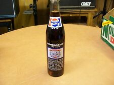 PEPSI 1. THE MOUNTAIN STATE WEST VIRGINA FULL COLLECTORS COMMEMORATIVE BOTTLE