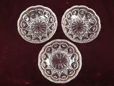 3 Small Clear Glass Fruit Or Candy Dish Bowls With Starburst Pattern (O) AS IS