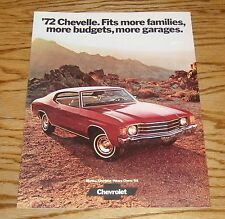1972 Chevrolet Chevelle Sales Brochure 72 Heavy Chevy Malibu SS