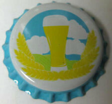 SPRING TIME, unused Beer CROWN, Bottle CAP with glass, grains & Clouds Real Nice