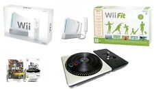 Wii console BOXED + wii board + DJ Hero Turntable + min 10 games