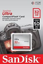 SanDisk 32GB CF Ultra Compact Flash Memory Card 50MB/s SDCFHS-032G Retail
