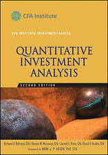 Quantitative Investment Analysis by David E. Runkle, Dennis W. McLeavey,...