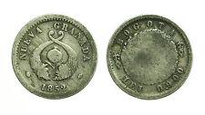 pcc1590_54) COLOMBIA Republica de Nueva Granada, Bogota 1 REAL 1852 silver