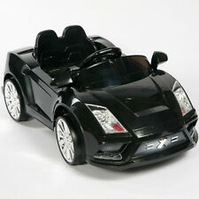 Racer X Black 12V Kids Ride On Car Electric Power Wheels MP3 Remote Control RC