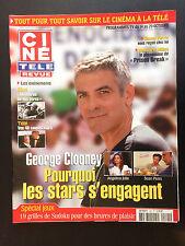 CINE REVUE 2006 N°41 george clooney sean penn wentworth miller romy schneider