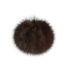 "Lana's Real Fur Pom-Pom - Dark Brown* Mink Fur - 2"" Round"
