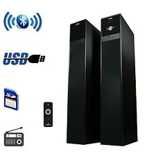 BEFREE SOUND 2.1 CH BLUETOOTH WIRELESS POWERED TOWER SPEAKERS USB MP3 PLAYER