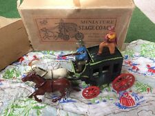 Johillco Lead Wild West Stage Coach Boxed Horses and Figures