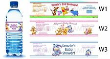Winnie the Pooh ~ Water Bottle Labels Birthday Party Favors Supplies Baby Shower