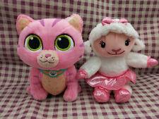 Disney Jr Doc McStuffins* WHISPERS Kitten Cat Lambie Lamb PLUSH Doll Set of 2