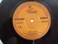 ASHA SINHA & RAMESHWAR GUPTA  HINDI COMIC SONG rare EP RECORD INDIA  VG-