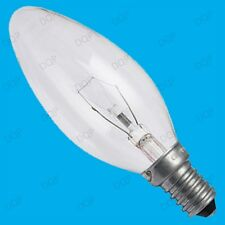 12x 25W CLEAR CANDLE DIMMABLE TUNGSTEN FILAMENT LIGHT BULBS; SES SCREW, E14 LAMP