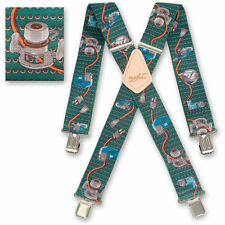"Brimarc Mens Braces Heavy Duty Suspenders 2"" 50mm Wide Power Tools Braces"