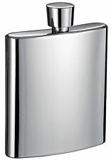 Visol 3oz Wenig Mirror Polished Stainless Steel Small Liquor Flask, New in Box