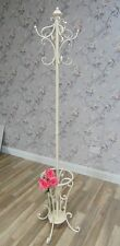 Cream Coat Stand Rack Umbrella Shabby Vintage Chic Storage Ornate Home Accessory