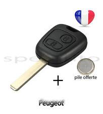 plip coque clé Peugeot 107 207 307 106 206 306 406 2 boutons + pile
