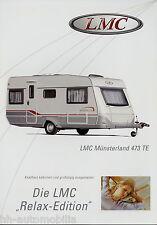 Prospekt LMC Münsterland 473 TE Wohnwagenprospekt Wohnwagen Broschüre