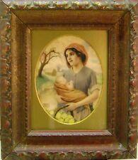 MINIATURE MOTHER AND CHILD IN LANDSCAPE MERCY CREED W/COL 1918