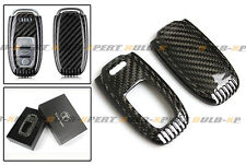 LUXURY CARBON FIBER SNAP ON CASE FOR AUDI A3 A4 A5 A6 A7 S4 S5 S7 RS TT KEY FOB
