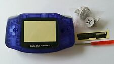 CARCASA COMPLETA+PANTALLA COMPATIBLE GAME BOY ADVANCE CLEAR BLUE NEW/NUEVO
