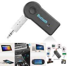 Wireless Bluetooth 3.5mm Car Aux Audio Stereo Music Receiver Adapter+Mic For PC