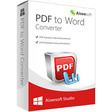 PDF to Word Converter WIN Aiseesoft 1 Jahr - Lizenz  ESD Download nur 14,99 !