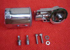 CHROME OIL FILTER AND MOUNTING BRACKET SUIT HARLEY EVO FOR REVTECH S&S ULTIMA